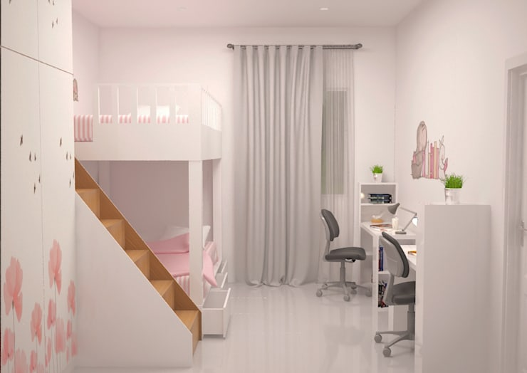 Minimalist Home Project for Mr. R:  Bedroom by Ruang Sketsa