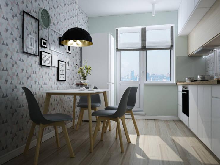 квартира в современно-скандинавском стиле: Кухни в . Автор – Айрис Эстет