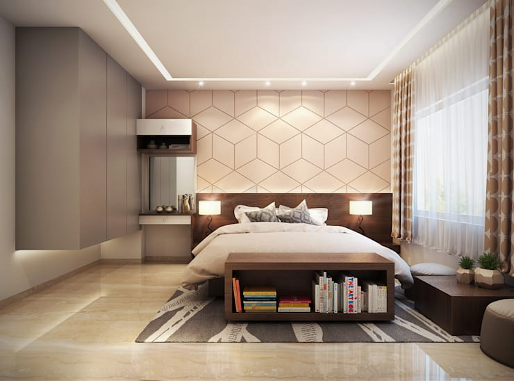 Interiors:  Bedroom by Spaces Alive,Modern