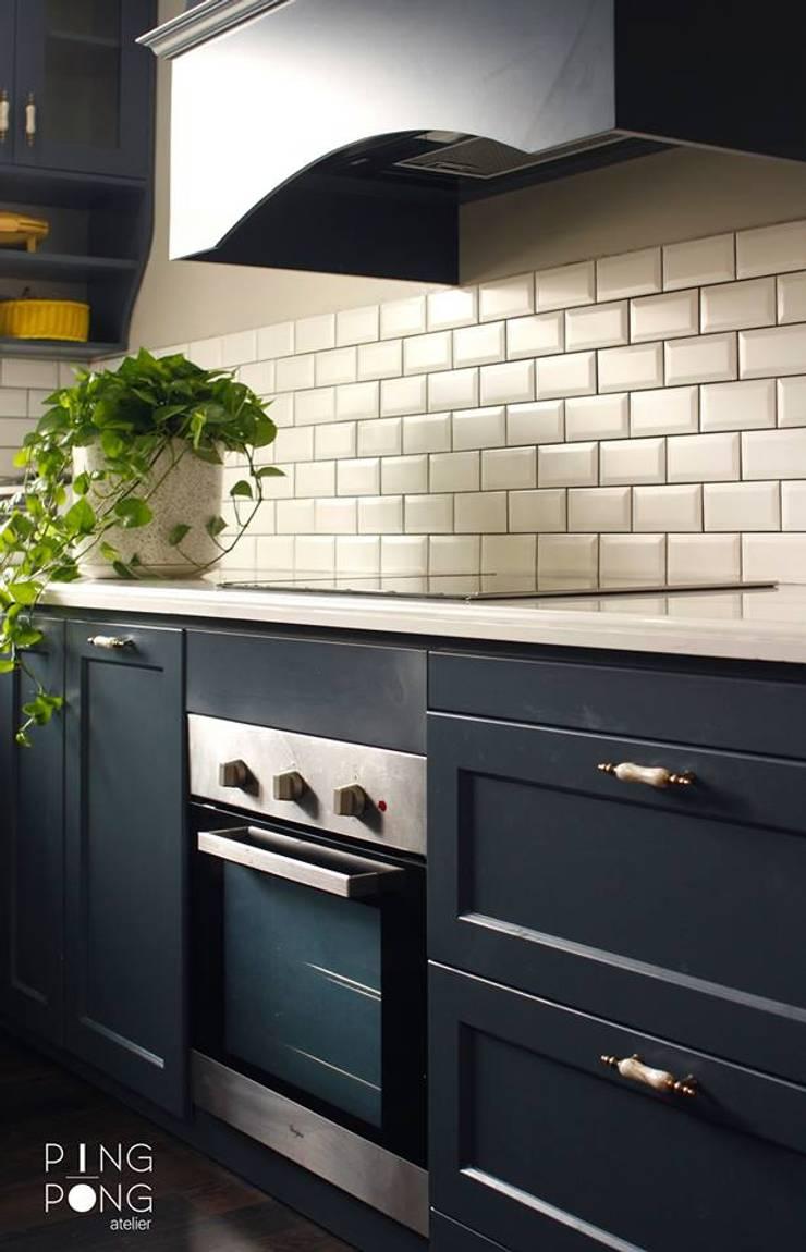 Thiết kế & thi công Bếp :  Nhà bếp by PingPong Atelier Furniture