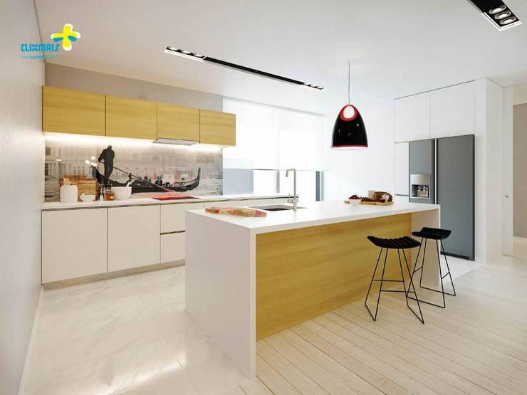 3D Cozinha: Cozinhas modernas por Clix Mais