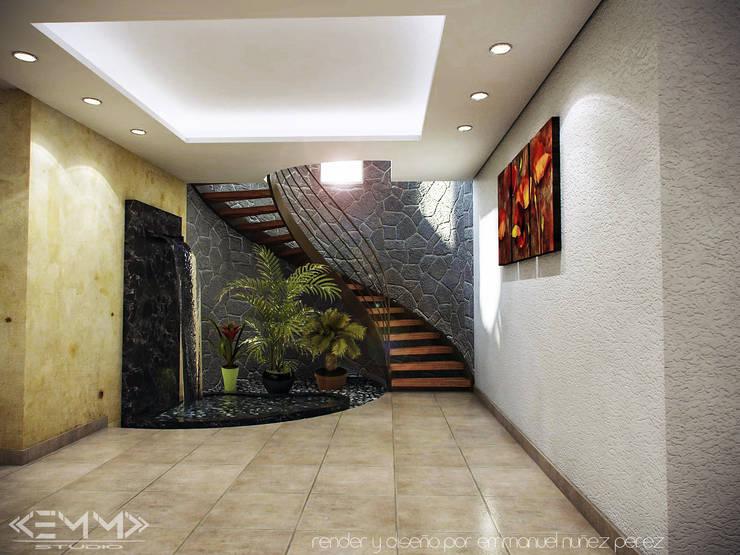 Escalera helicoidal: Escaleras de estilo  por EMM Studio