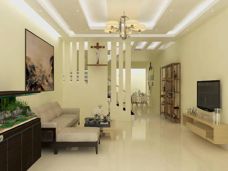 Phòng khách:   by Công ty TNHH MTV Xây Dựng Khang Điền