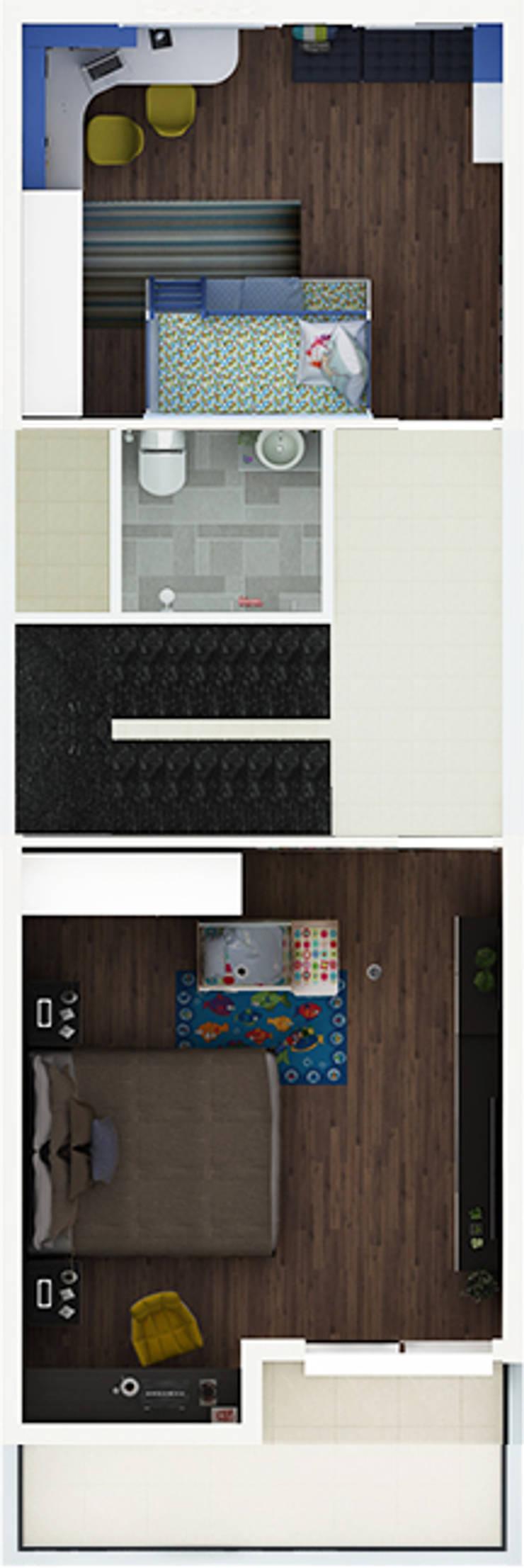 Nội thất nhà phố phong cách hiện đại:   by Công ty TNHH MTV Xây Dựng Khang Điền