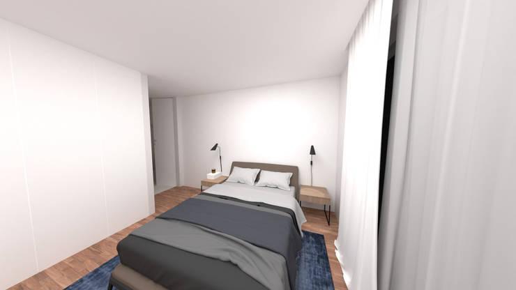Master Suite: Quartos minimalistas por IAM Interiores