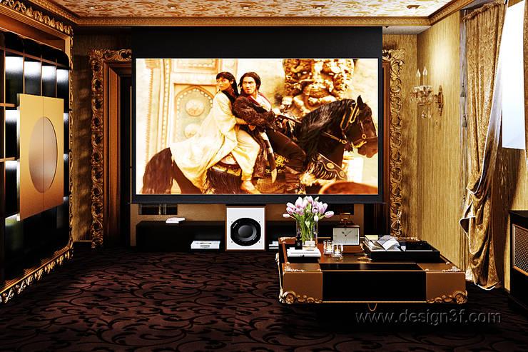 Домашний кинозал: Электроника в . Автор – студия Design3F, Эклектичный