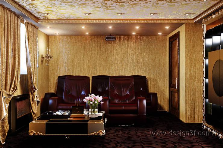 Домашний кинозал: Медиа комнаты в . Автор – студия Design3F, Эклектичный