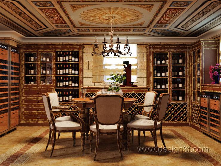 Винная комната в доме: Винные погребы в . Автор – студия Design3F, Классический