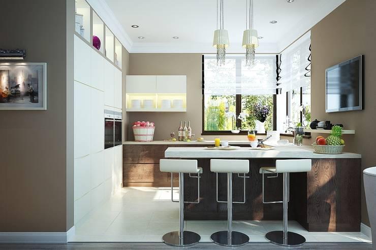 Кухня современный стиль: Кухни в . Автор – студия Design3F