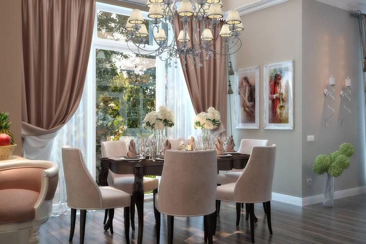 Кухня и столовая классика: Столовые комнаты в . Автор – студия Design3F, Классический