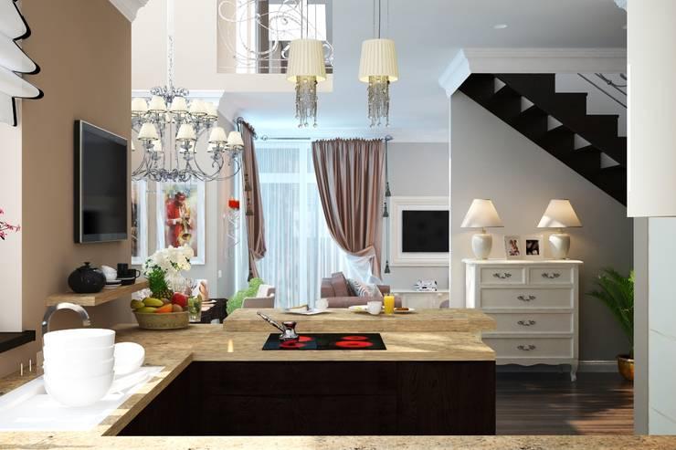 Кухня и столовая классика: Кухни в . Автор – студия Design3F, Классический