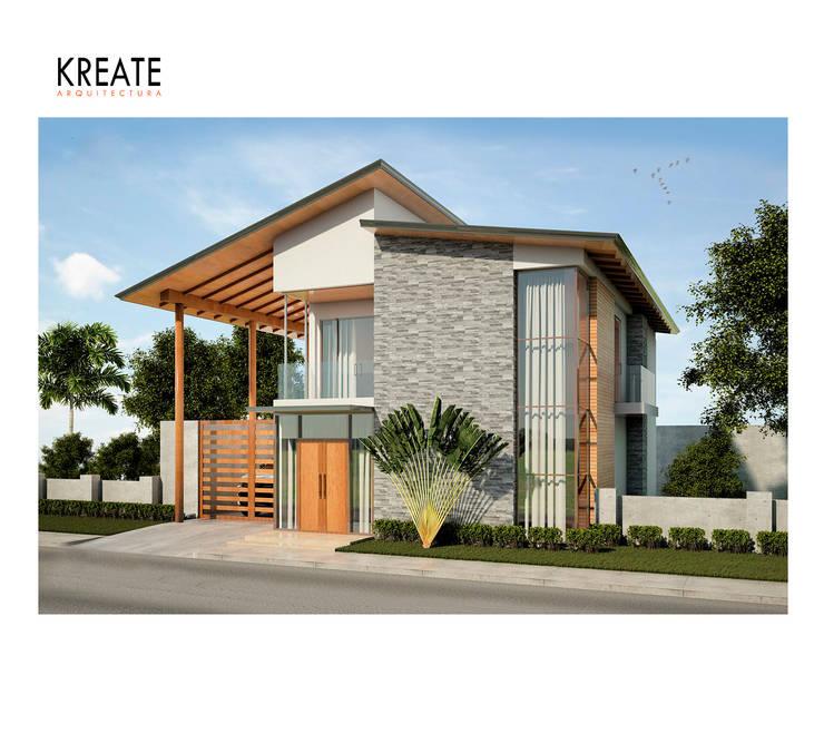 Vivienda Felicitat.:  de estilo  por KREATE Arquitectura