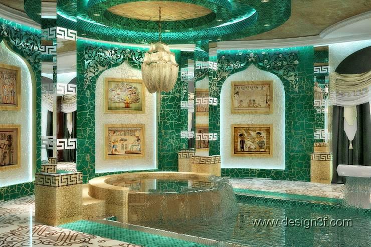 Роскошный бассейн в восточном стиле: Бассейн в . Автор – студия Design3F, Азиатский