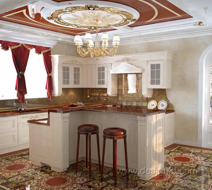 Большая кухня в восточном стиле: Кухни в . Автор – студия Design3F, Азиатский