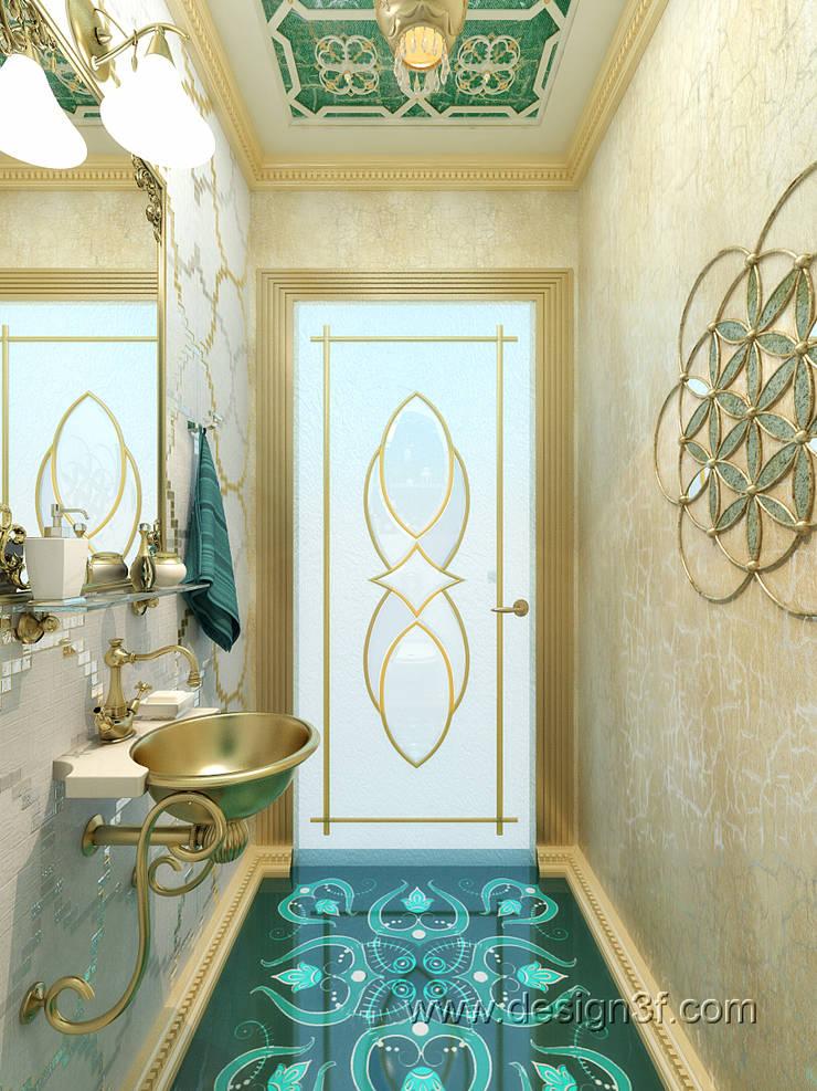 Маленький санузел в восточном стиле: Ванные комнаты в . Автор – студия Design3F, Азиатский