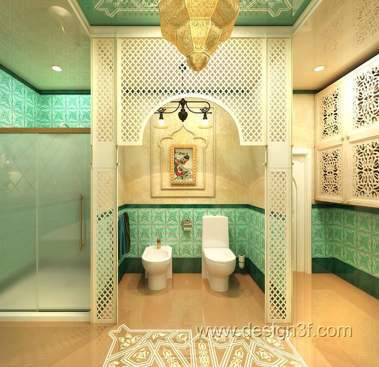 Большая ванная в восточном стиле: Ванные комнаты в . Автор – студия Design3F, Азиатский