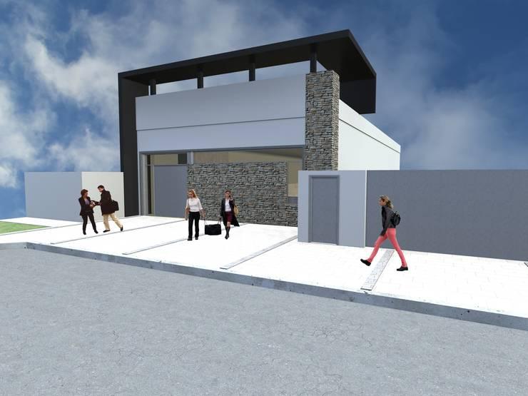 Primer propuesta de la fachada y el entorno:  de estilo  por Arquitecto Pablo Briguglio