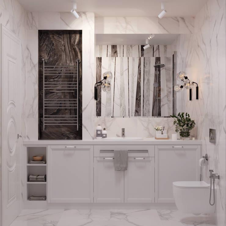 Квартира на Ломоносовском проспекте: Ванные комнаты в . Автор – 3D GROUP