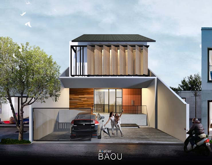 MR House:  Rumah tinggal  by Atelier BAOU+