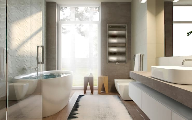 SoftGrey: Ванные комнаты в . Автор – Need Design
