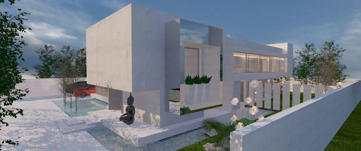 Chalets de estilo  por CB Luxus Inmobilien, Minimalista Concreto