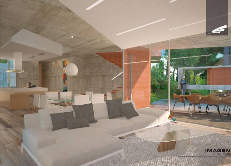 Vivienda FF: Livings de estilo  por síncresis arquitectos