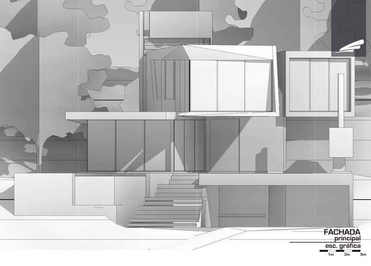 Vivienda FF: Casas de estilo  por síncresis arquitectos