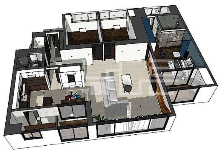대구 수성구 옥수동 보국웰리치 48평형: 남다른디자인의 현대 ,모던