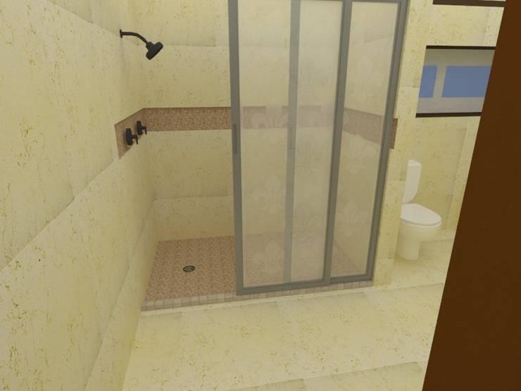 ducha: Baños de estilo  por Constru-Acción