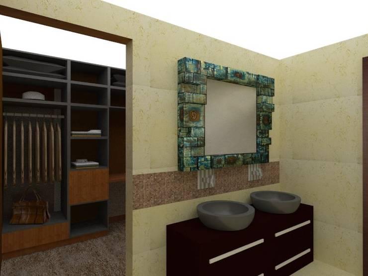 lavamanos: Baños de estilo  por Constru-Acción