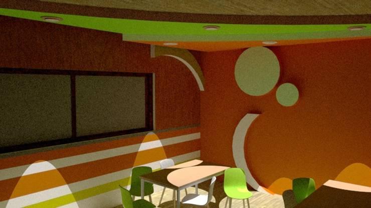 Escuela : Comedores de estilo  por Fire Design AR, Moderno Madera Acabado en madera