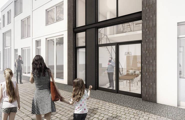Casas passivas  por Studio Kustlijn Architecten , Moderno Pedra