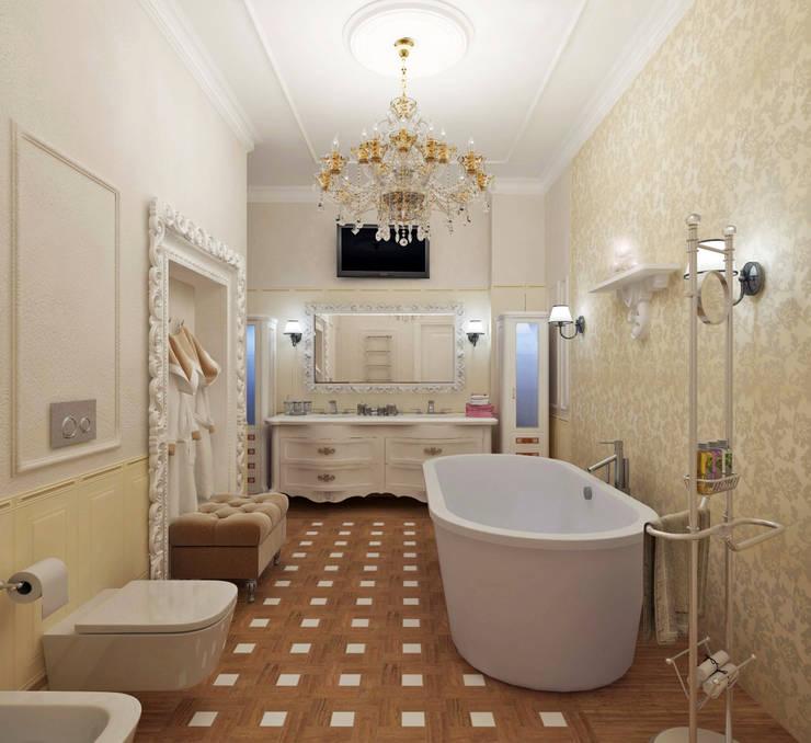 Классика на Васильевском острове: Ванные комнаты в . Автор – Студия дизайна Татьяны Лазурной