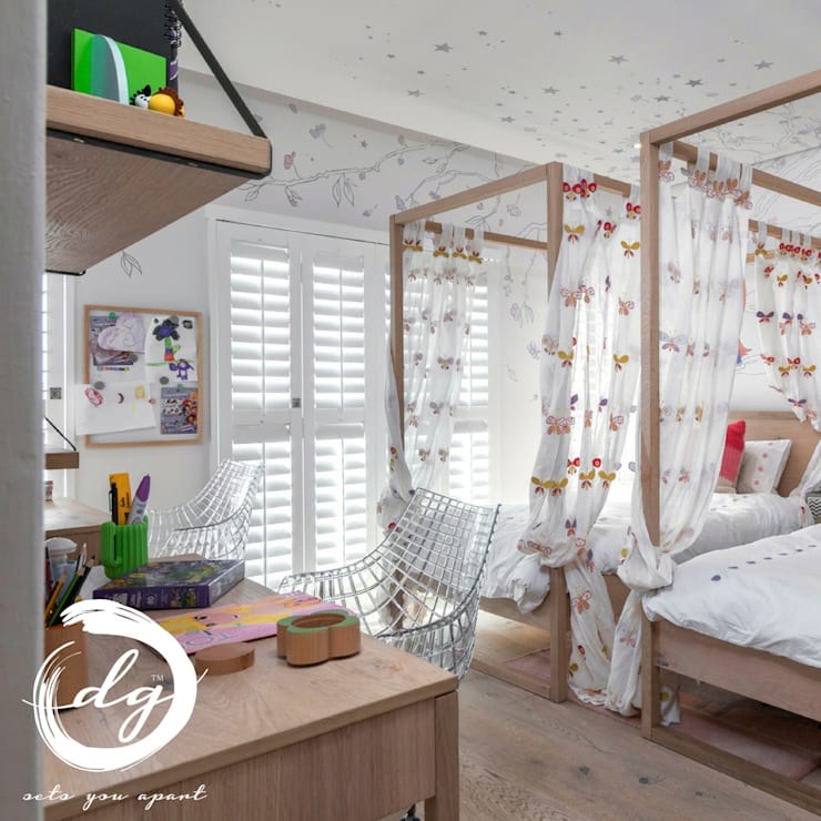 Nursery/kid's room by Deborah Garth Interior Design International (Pty)Ltd, Colonial Wood Wood effect