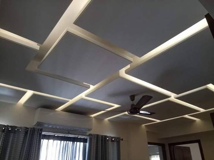 square false ceiling:   by classicspaceinterior