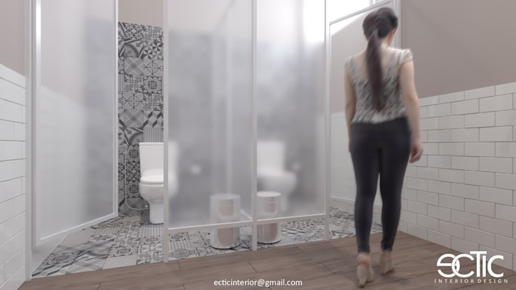 Female Office Toilet:  Kamar Mandi by Ectic