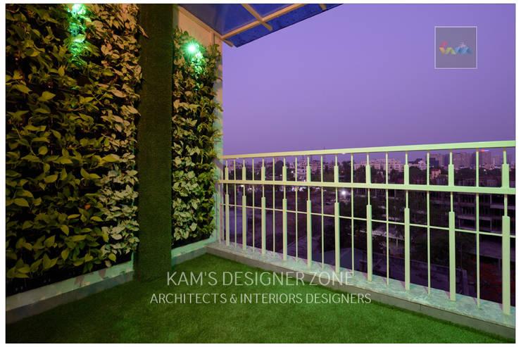 Flat Interior Design of Mr. Manish Wadia:  Terrace by KAM'S DESIGNER ZONE,Modern