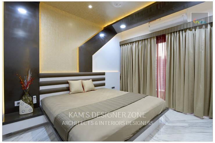 Bedroom Interior Design:  Bedroom by KAM'S DESIGNER ZONE,Modern