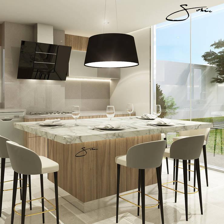 Proyecto de Cocina: Cocina de estilo  por sofia c.zarauz-design