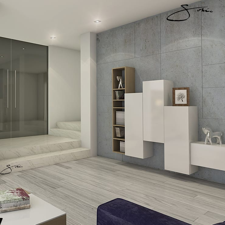 Mueble decorativo: Salas/Recibidores de estilo  por sofia c.zarauz-design