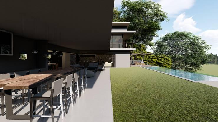 38 SAGILA:  Patios by CA Architects, Modern