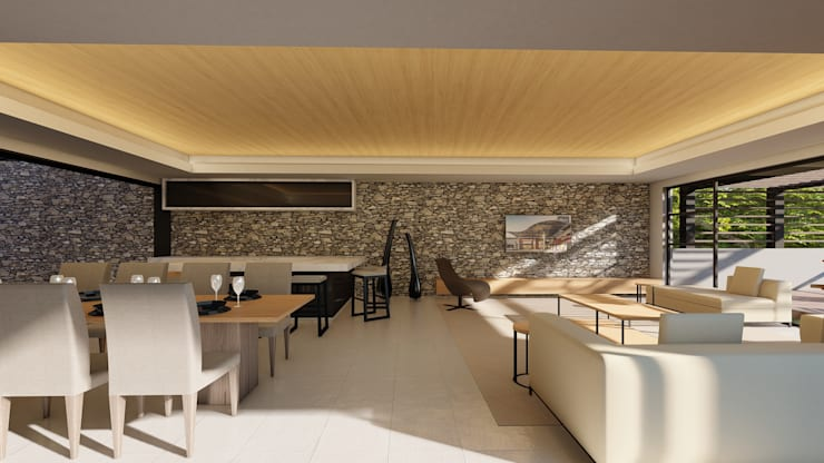 38 SAGILA:  Living room by CA Architects, Modern