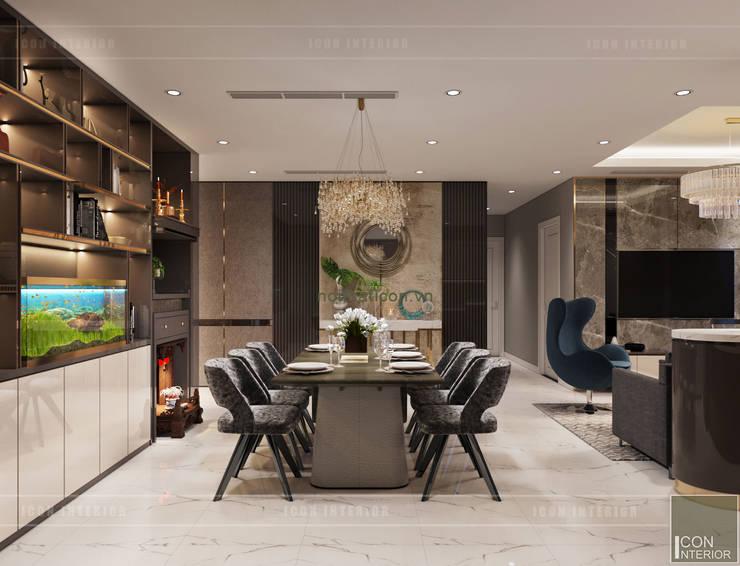 Phối hợp phong cách Tân cổ điển và Đương đại trong nội thất căn hộ:  Phòng ăn by ICON INTERIOR