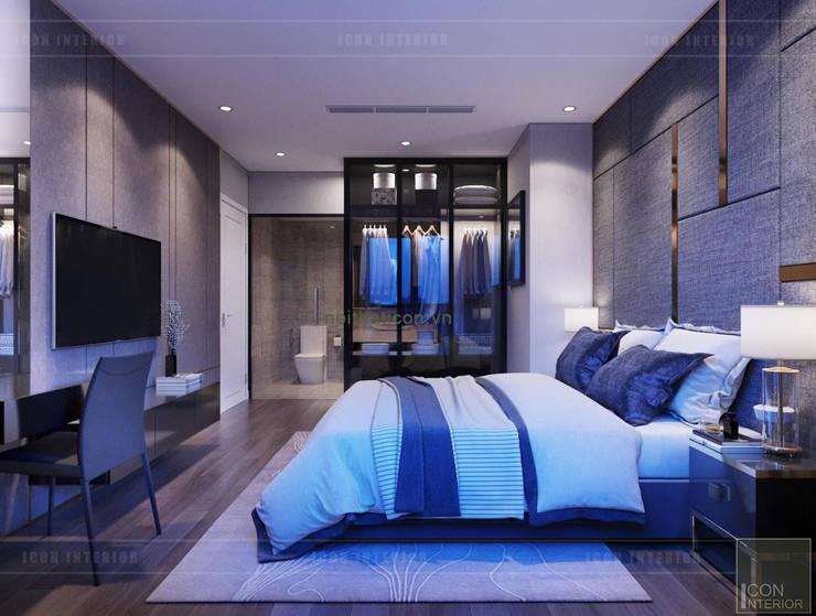 Phối hợp phong cách Tân cổ điển và Đương đại trong nội thất căn hộ:  Phòng ngủ by ICON INTERIOR