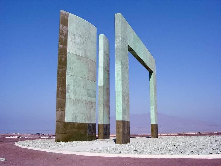 Vista del Hito del tropico de Capricornio - Antofagasta:  de estilo  por  Arquitectos Roman&Toledo