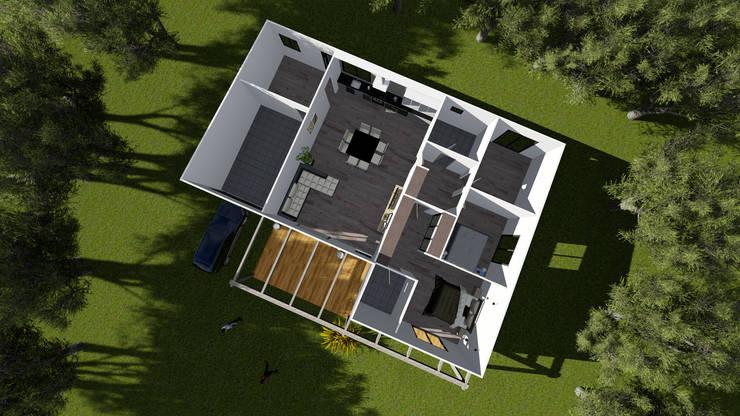 Modelo | T3 169m²: Casas pré-fabricadas  por Discovercasa | Casas de Madeira & Modulares