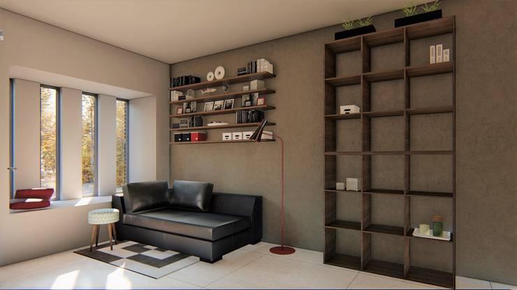 casa bioclimatica: Livings de estilo  por steel