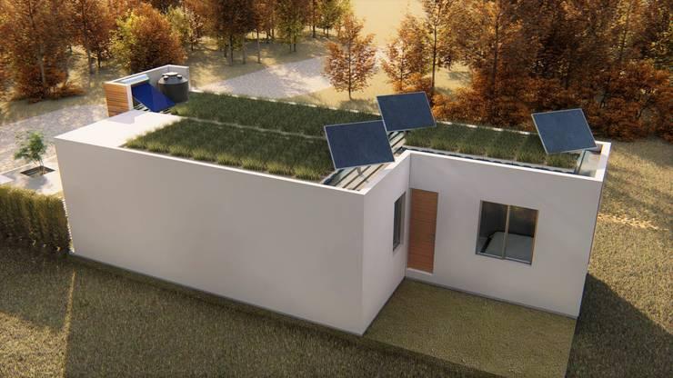 casa bioclimatica: Casas ecológicas de estilo  por steel