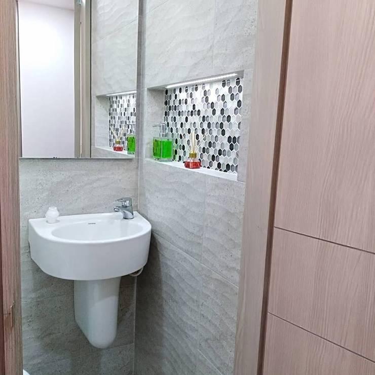 Apartaestudio: Baños de estilo  por Erick Becerra Arquitecto