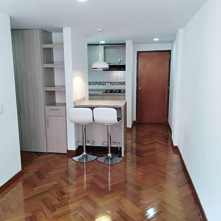 Apartaestudio: Salas de estilo  por Erick Becerra Arquitecto